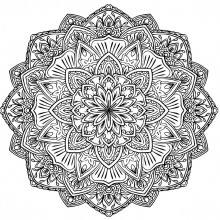 mandala to download strange and beautiful flower