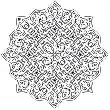 Mandala with Flowers   9
