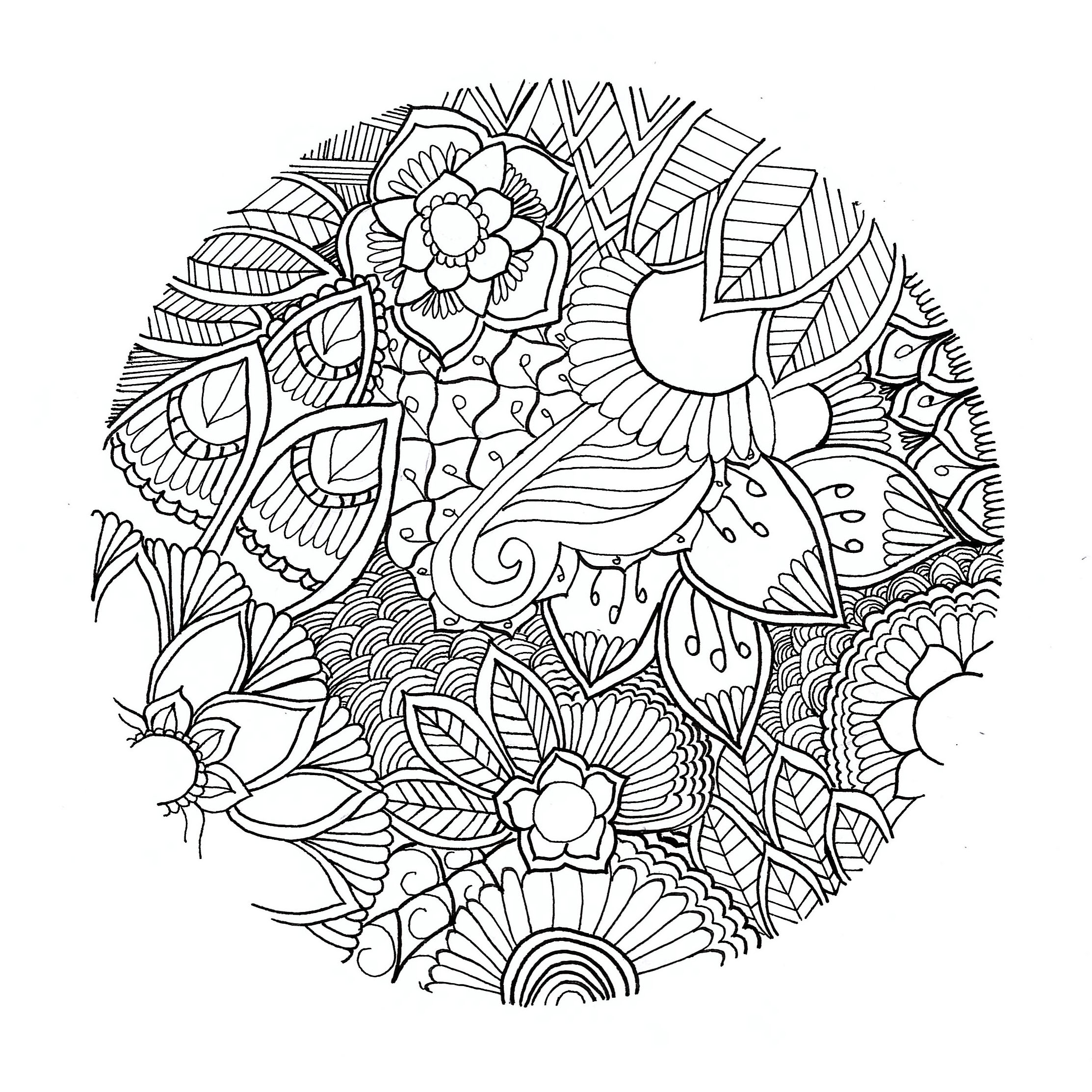 Flowers in a circle Mandalas