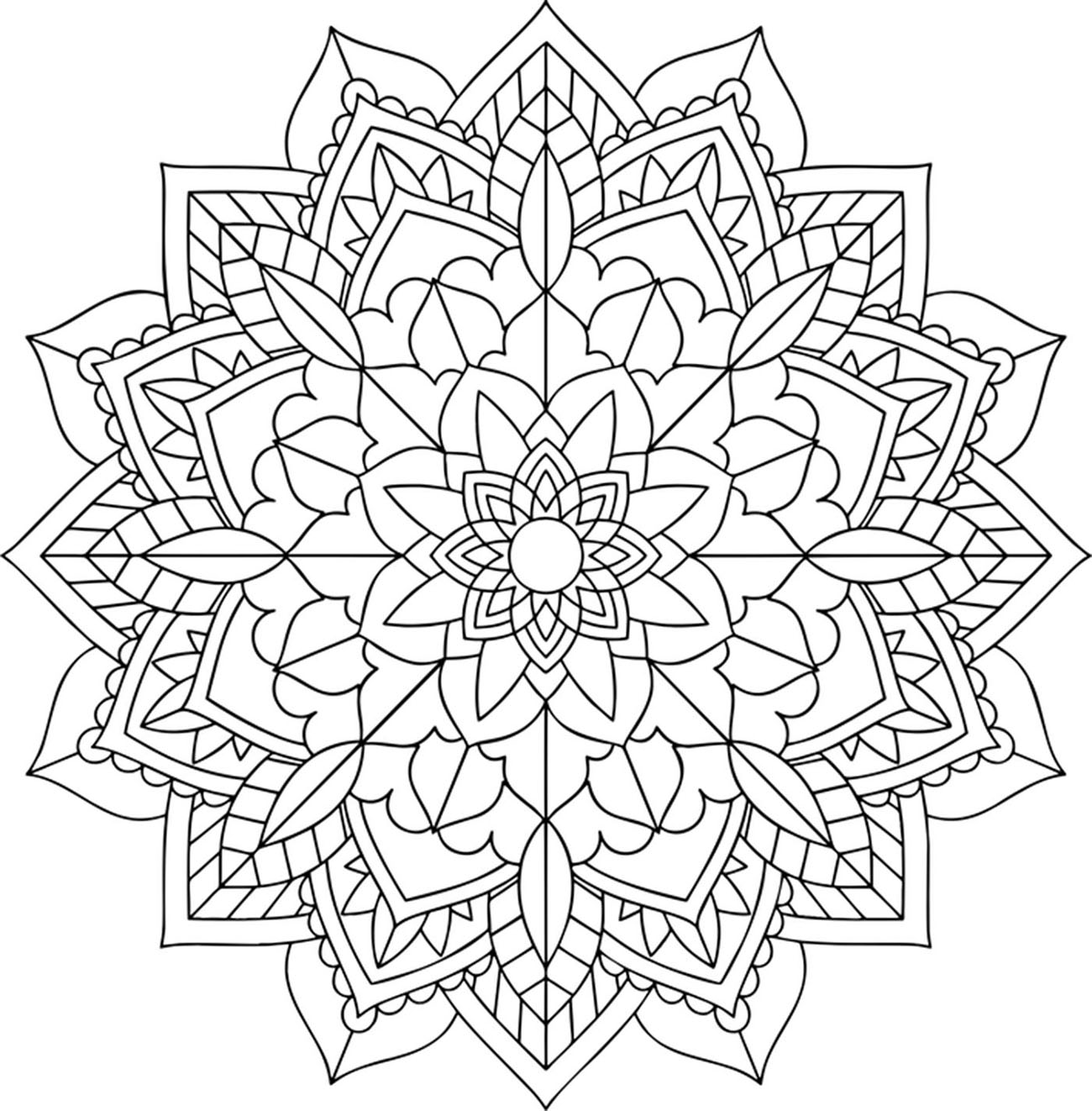 Prepare your most beautiful colors to give life to this beautiful and exclusive coloring page, dedicated to lovers of Mandalas and Nature !