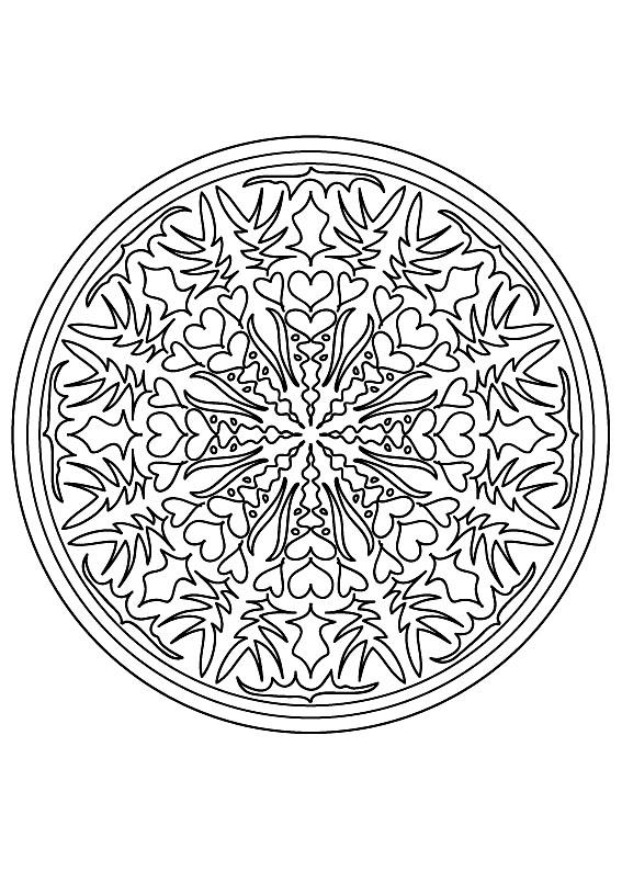 Mandala to color flowers vegetation to print 15 - Mandalas with ...