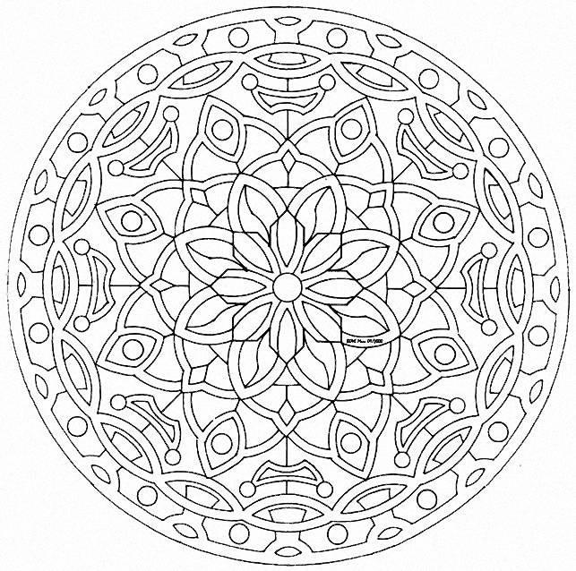 mandala to color flowers vegetation to print 20 mandalas with