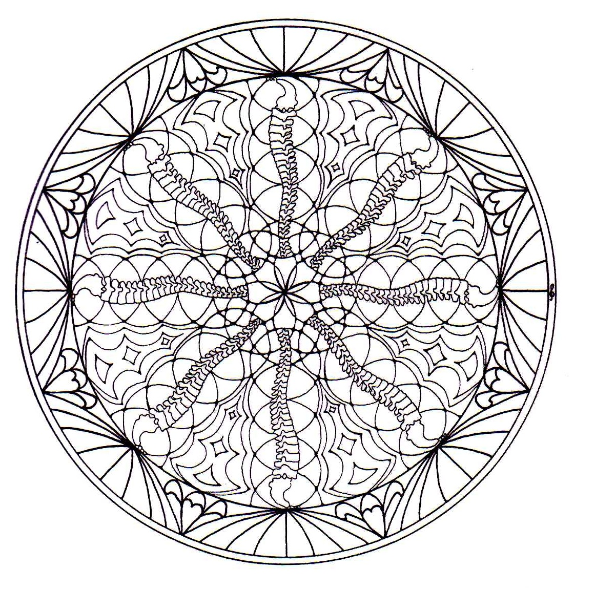 Mandala To Color Flowers Vegetation To Print 9
