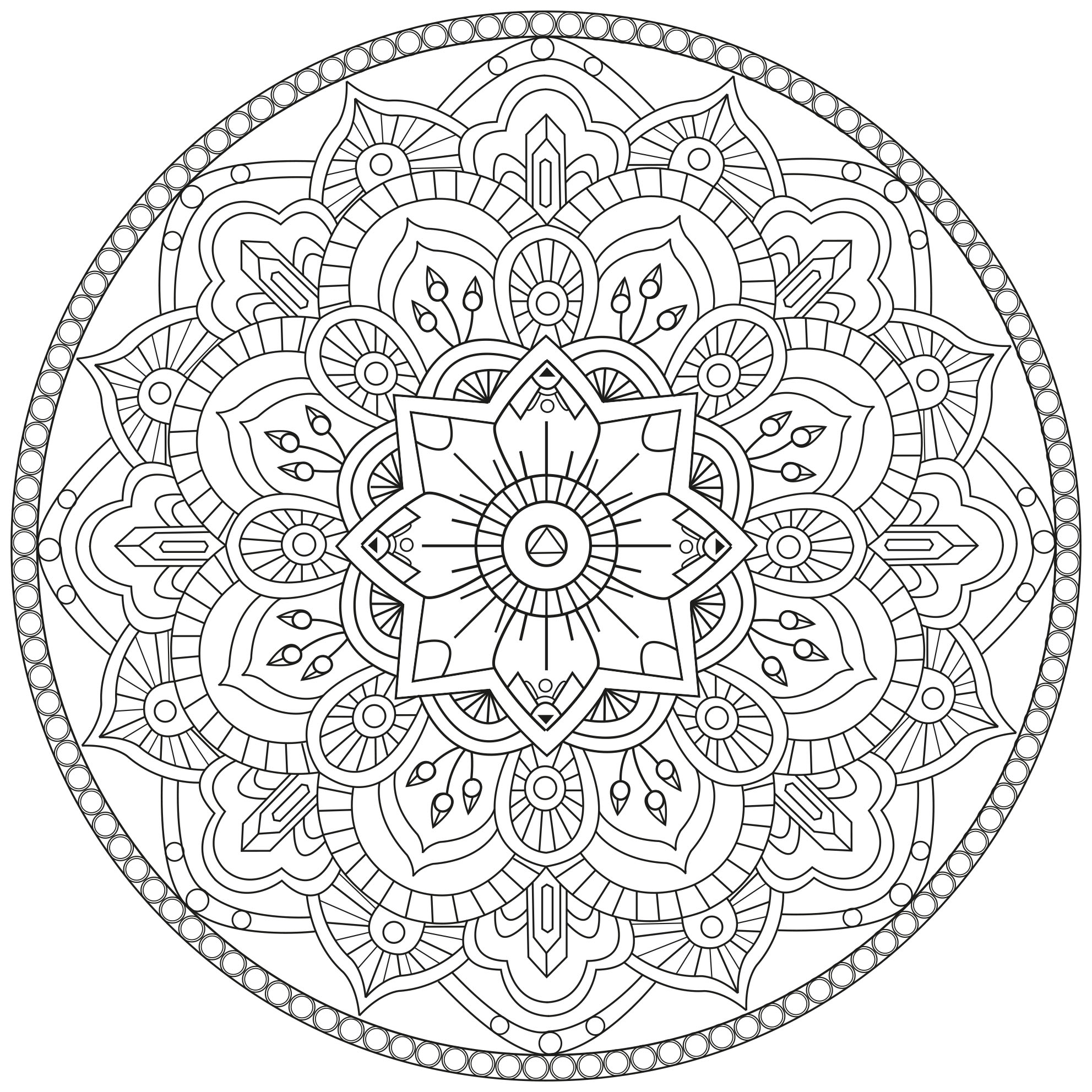 """Mandala is a Sanskrit word that loosely translates to mean """"circle"""" or """"center."""" ... When abstract patterns allow a drawing to look like a flower, it gives this Mandala."""