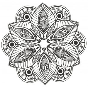 Mandala with big petals
