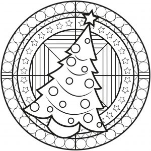 Christmas Tree Mandala
