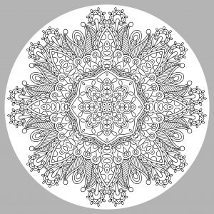 Complex Mandala with grey background