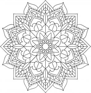 Floral and harmonious Mandala