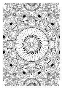 Mandala filling an A4 sheet