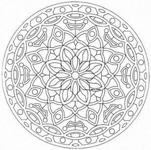 Elegant Mandala with fine lines
