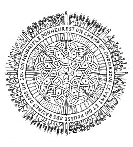 Magnificent Mandala with little flowers and abstract patterns