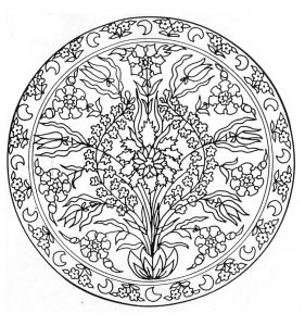 Mandala with a flower in a vase