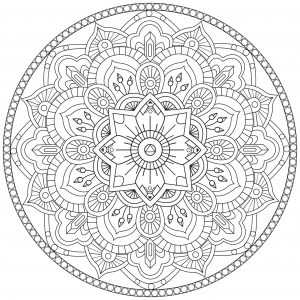 Abstract Mandala forming a unique flower