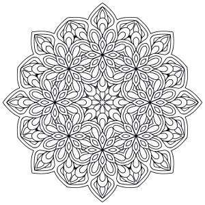 Mandala with Flowers : simple & harmonious