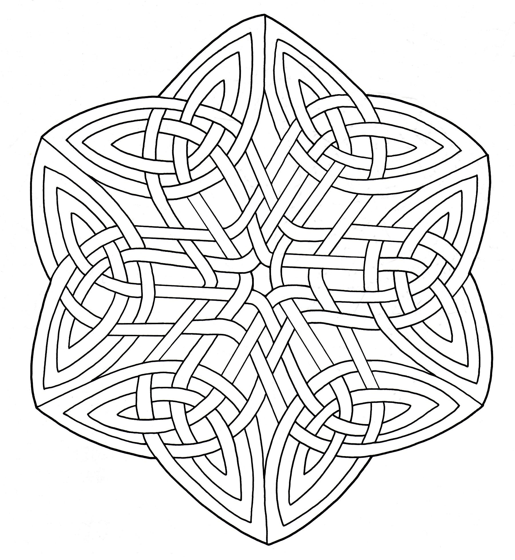 coloring mandala celtic art 15