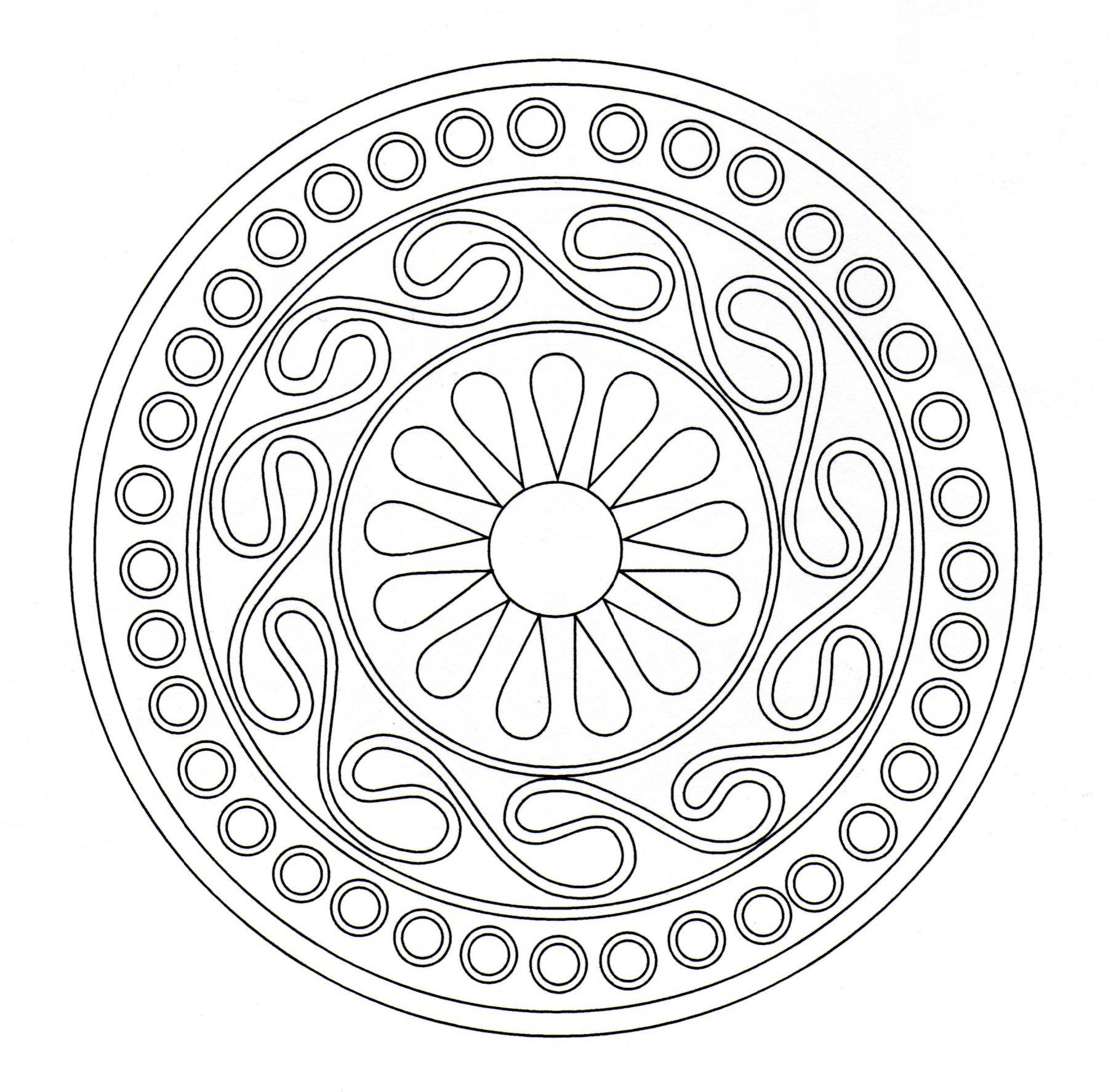 Mandala designs increase self-esteem and stimulate aesthetic sense. Discover it with this beautiful coloring page.