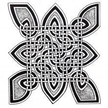 Coloring mandala celtic art 10