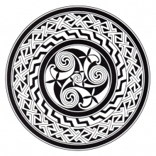 Coloring mandala celtic art 13