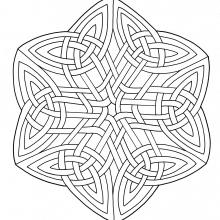 Coloring mandala celtic art 15