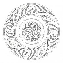 Coloring mandala celtic art 2