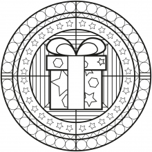 Coloring mandala celtic art 28