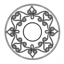 Coloring mandala celtic art 4