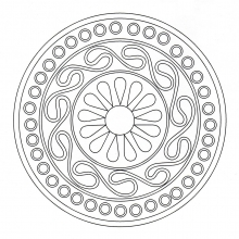 Coloring mandala celtic art 7