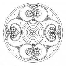 Coloring mandala celtic art 8