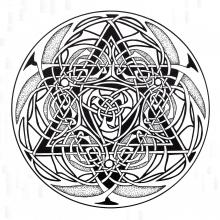 Coloring mandala celtic art 9
