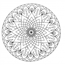 mandala-abstract-simple-with-a-star-in-the-middle free to print
