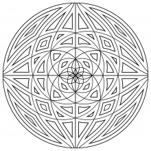 mandala-simple-with-concentric-lines free to print