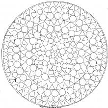 mandala to print geometric patterns