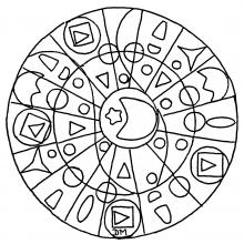 mandala to print geometry