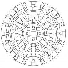 simple mandala geometric 1