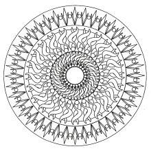 simple mandala geometric 6