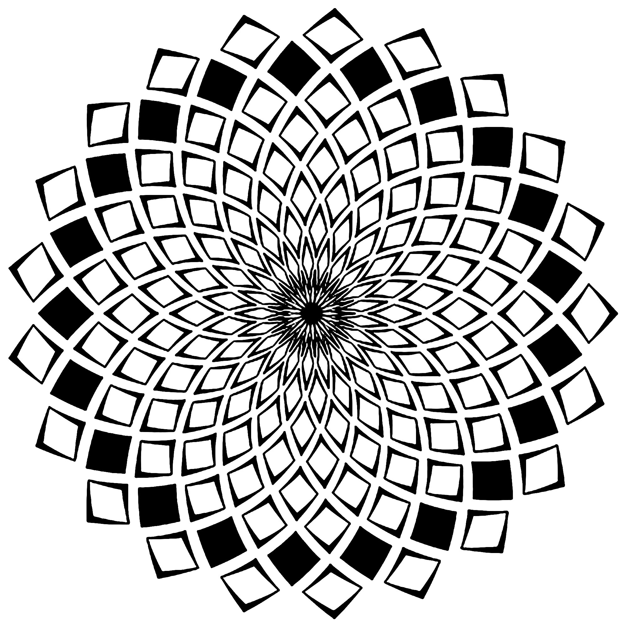 Mandala squares mandalas with geometric patterns 100 for Geometric mandala coloring pages