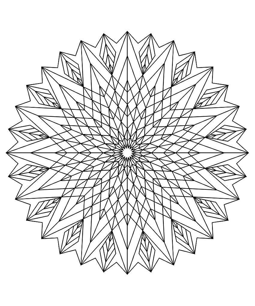 Mandala to color patterns geometric 3