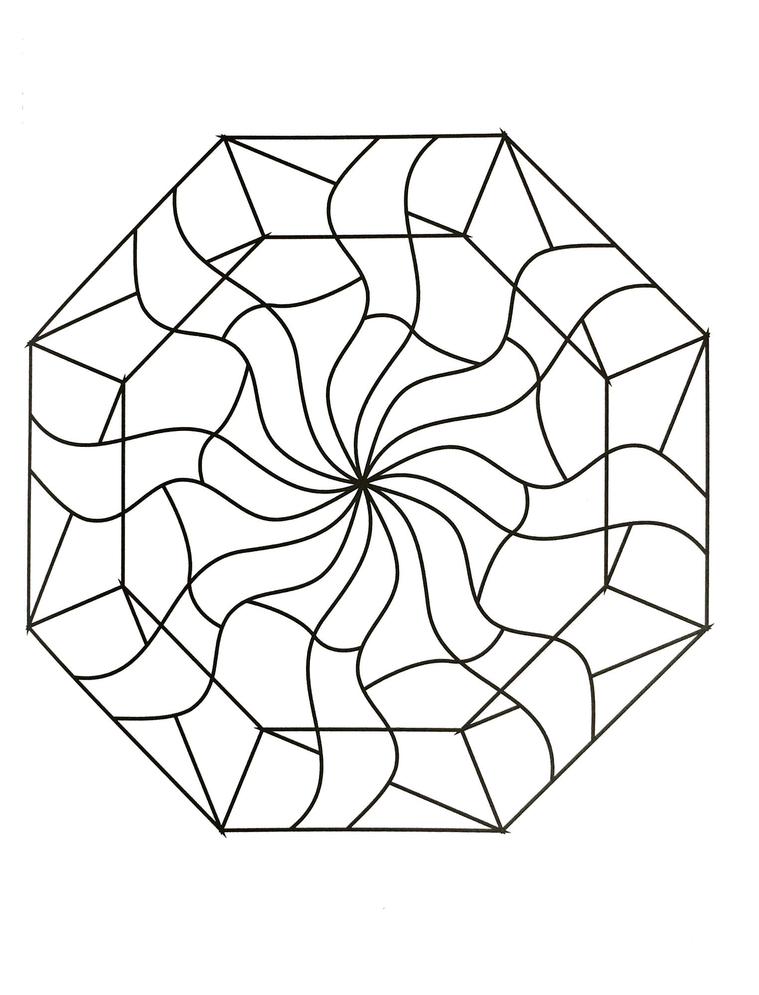 Very cute Anti stress Mandala - Mandalas with Geometric ...