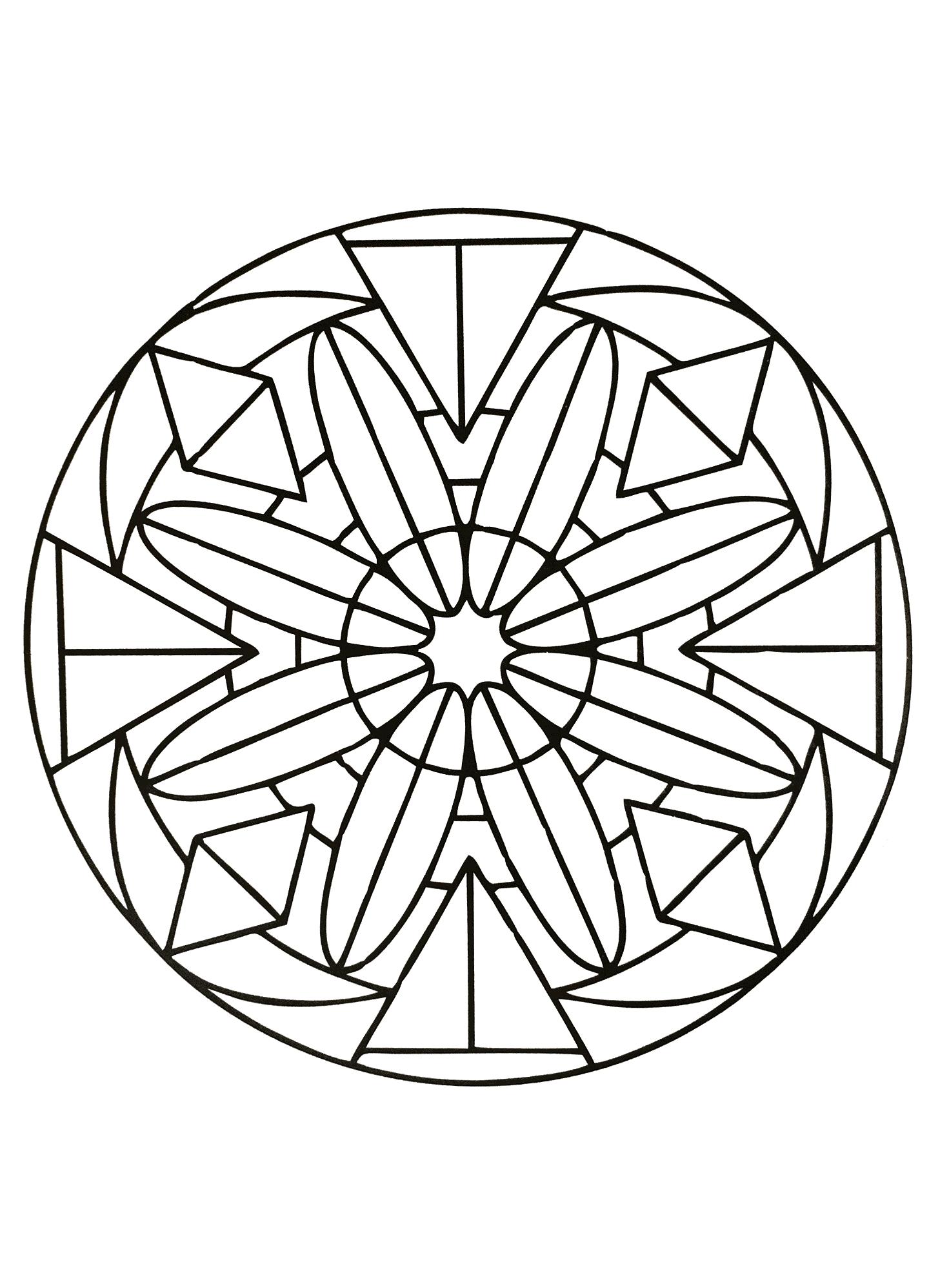 Mandalas geometric to print 17 mandalas with geometric for Simple geometric designs coloring pages