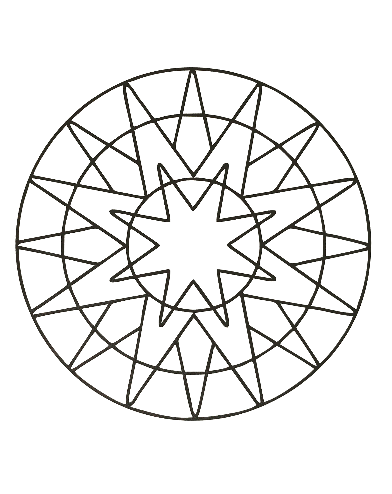 Unique and inspiring Zen & Anti-stress Mandala. Mandalas are designed to help you become free from your worries, because they make it easier to focus on the present moment.