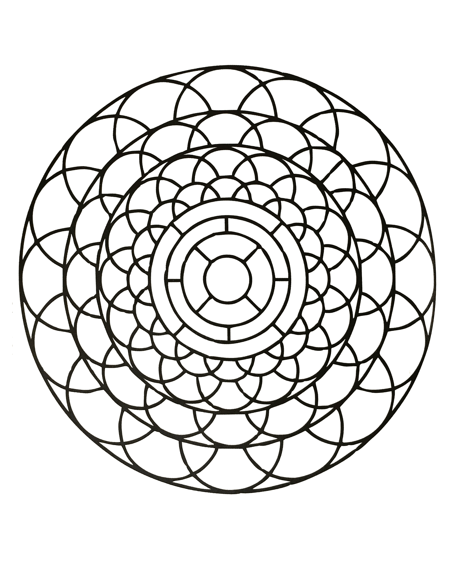 Unique Zen & Anti-stress Mandala. Designing and coloring mandalas give you a feeling of calmness.