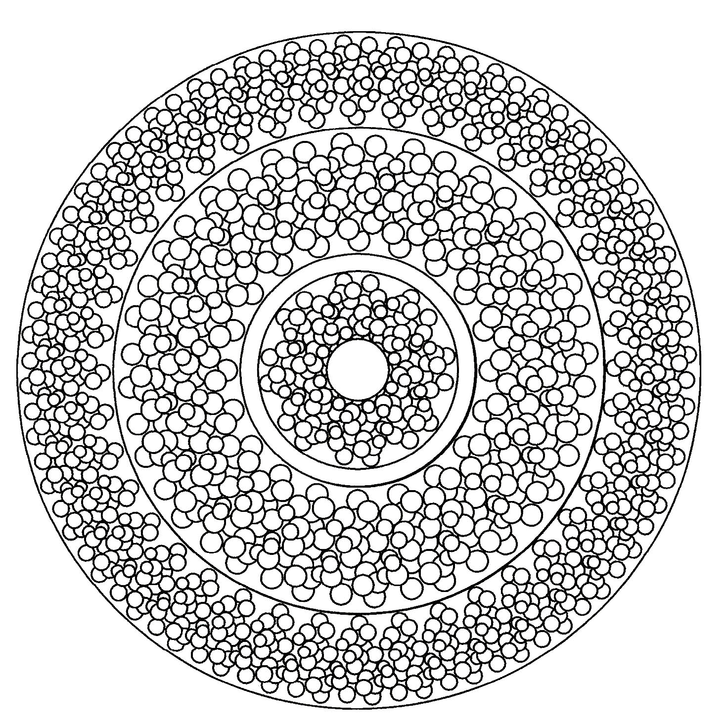 Mandala With Lots Of Little Circles Mandalas With