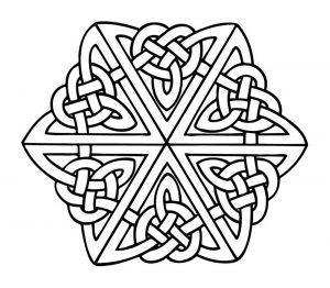 Mandala with interlaced elements