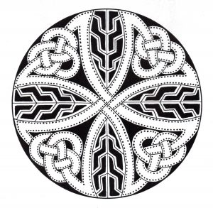 """Celtic Art"" Mandala with dark background"