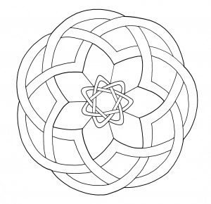 "Very simple ""Celtic Art"" Mandala"