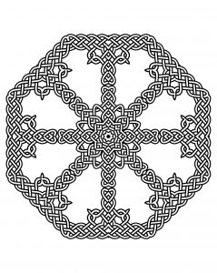 Beautiful Mandala with 8 identical zones