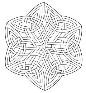 Mandala with simple and very harmonious lines