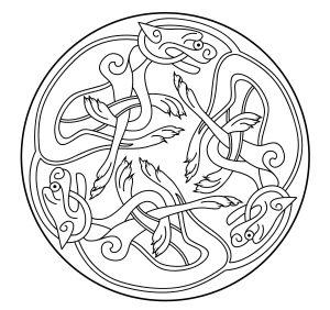"""""""Celtic Art"""" Mandala with white background"""