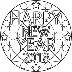 Happy New Year Mandala