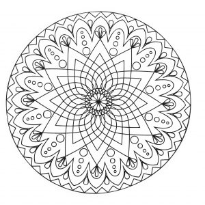 Abstract & simple Mandala with a star in the middle